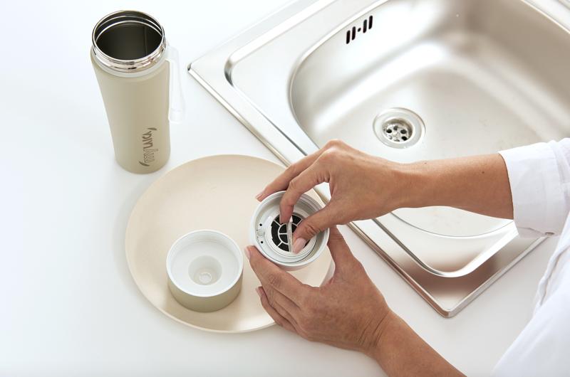 borraccia filtrante mylaica lavare perchè come lavare filtro