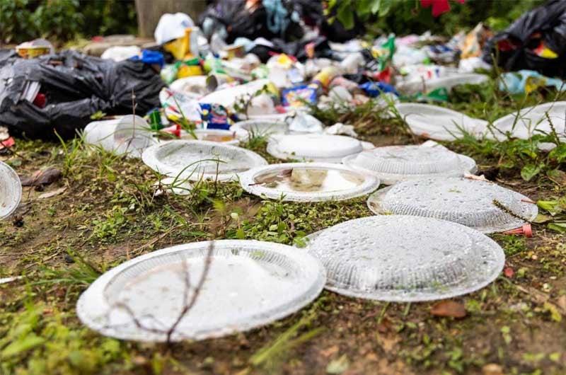 inquinamento da plastica monouso