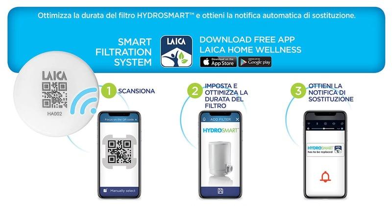 laica home wellness app per ottimizzare filtro hydrosmart